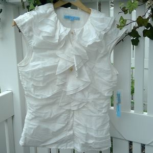 Ruched White top